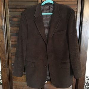 Jos A Bank brown corduroy sport coat jacket 41 L